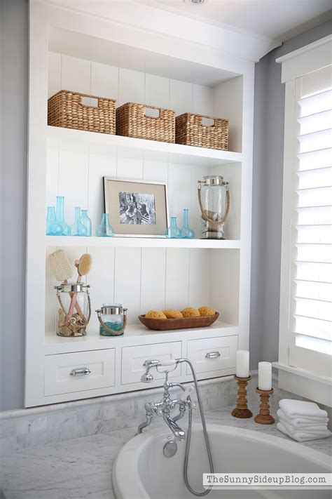 master bathroom shelvestub  sunny side  blog
