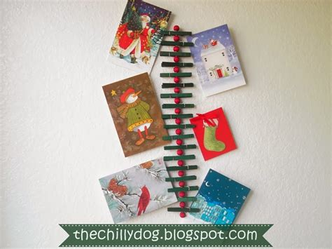 clothespin christmas card holder allcrafts free crafts