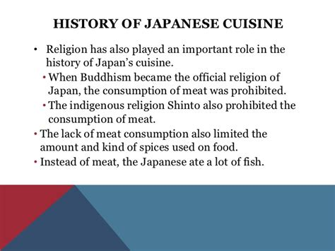 the history of cuisine japanese cuisine