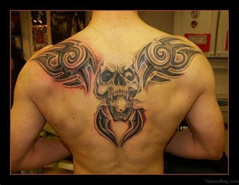 80 Good Looking Skull Tattoos On Upper Back