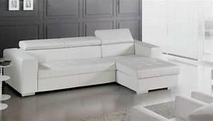 Canape Angle Cuir Blanc : photos canap d 39 angle cuir blanc ikea ~ Teatrodelosmanantiales.com Idées de Décoration
