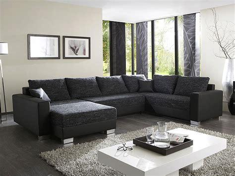 Polsterecke Amy 320x220160cm Schwarzgrau Couch Sofa