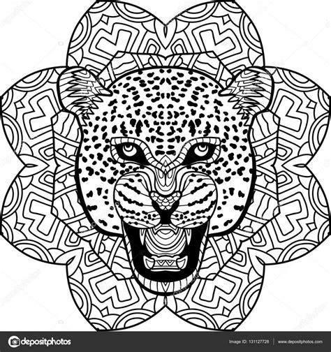 Kleurplaat Volwassenen Tijger by Kleurplaat Voor Volwassenen Jaguar Op Een