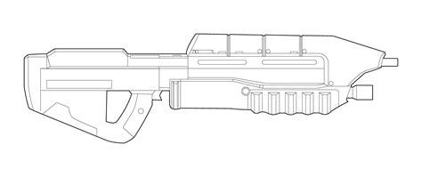 Halo Ma5b Rifle Lineart By Masterchieffox On Deviantart