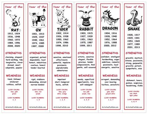 chinese  year bookmarks printable festival collections