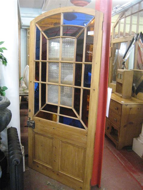 antiques atlas victorian arched etched stained glass door