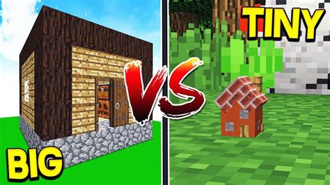 worlds biggest house  smallest house minecraft youtube