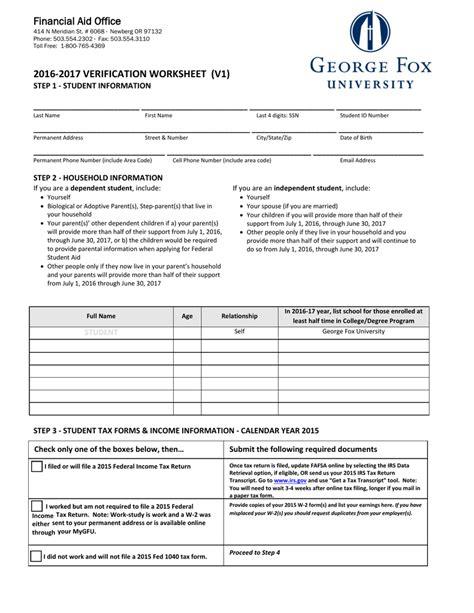 worksheet fafsa verification worksheet grass fedjp