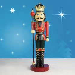 life sized nutcracker king with scepter on drum 9