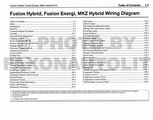 2013 Ford Fusion Energi Lincoln Mkz Hybrid Wiring Diagram Manual Original