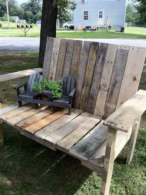 diy wood pallet bench  pallets