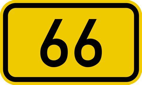 Bundesstraße 66 Number.svg