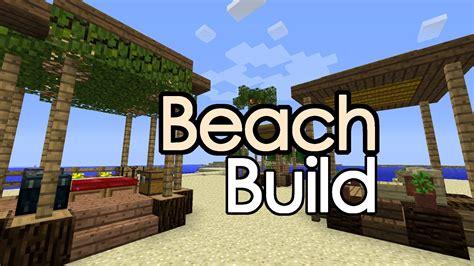 minecraft beach huts shack pimped rv build youtube