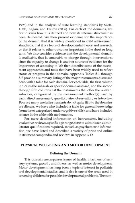 5 Assessing Learning and Development | Early Childhood