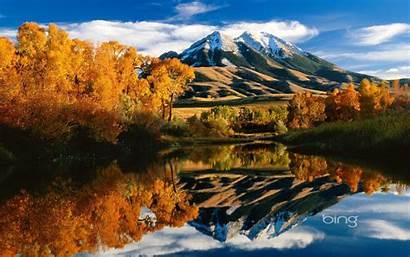 Bing Windows Lake Wallpapers Autumn Mountain Peak