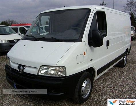 peugeot van boxer peugeot boxer 2006 box type delivery van long photo and