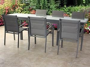 Mobilier Pas Cher : mobilier de jardin aluminium cabanes abri jardin ~ Melissatoandfro.com Idées de Décoration