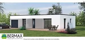 maison cubique moderne plain pied idees de decoration With surface d une maison 7 maison bois plain pied type loft nos maisons ossatures
