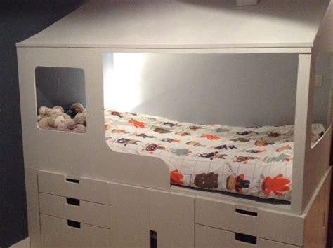 meuble cuisine blanc 2 en 1 lit cabane enfant rangements bidouilles ikea