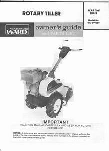 Montgomery Ward Rotary Front Tine Tiller Gil