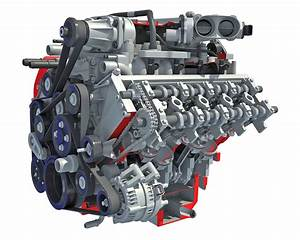 Cutaway V8 Engine 3d Model