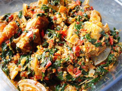 oil  nigerian soup efo vegetable