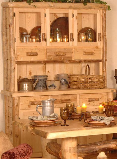 kitchen hutch cabinet aspen log collection silver creek hutch sch 1809