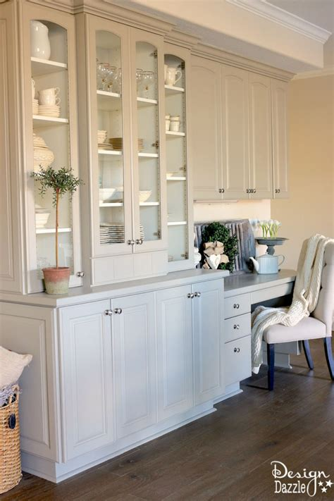 built in china hutch china cabinet makeover design dazzle