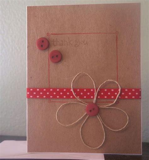 diy birthday card ideas card craft buttons twine