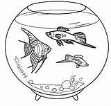 Coloring Aquarium Fish Pages Pet Pets Books Water Ocean Fresh Animals sketch template