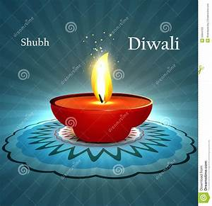 Beautiful Diwali Diya Rangoli With Space For Your Stock ...