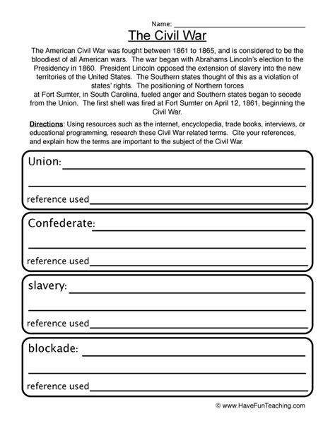 united states history worksheets for 5th grade history