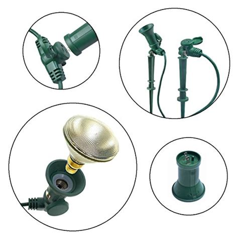 exterior light socket outlet yard master 17322 25 feet 3 outlet outdoor extension cord
