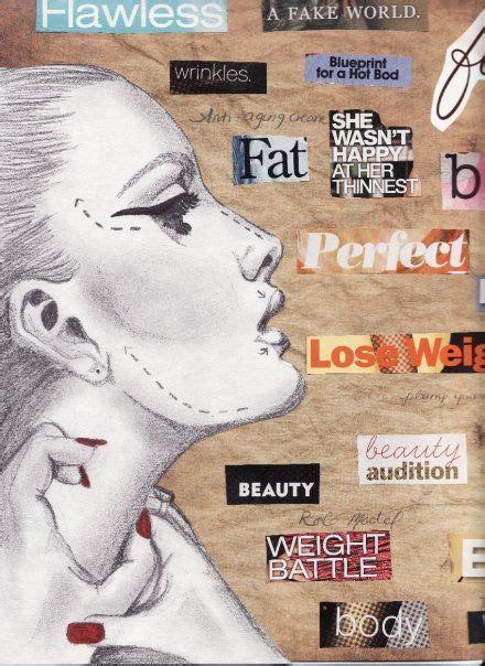 Body Image Mixed Media Art Therapy Gcse
