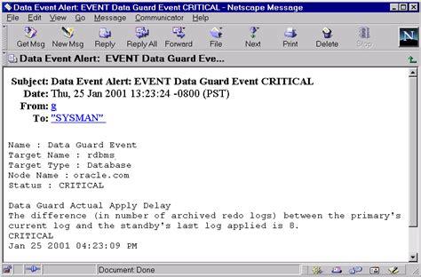 data guard manager scenarios