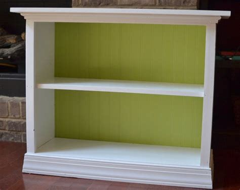 wooden  shelf bookcase white  grass green bead