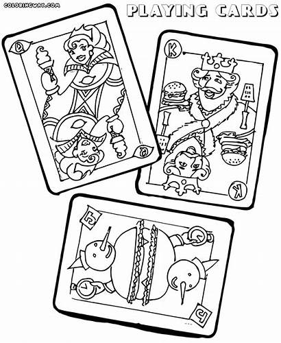 Playing Cards Coloring Pages Colorings Playingcards