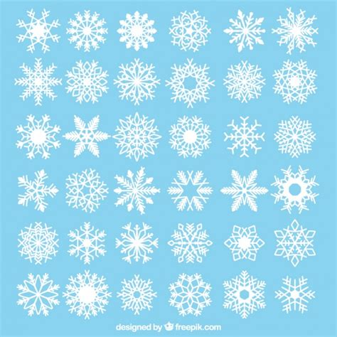collection of decorative snowflakes vector free download