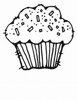 Cupcake Coloring Pages Birthday Printable sketch template