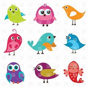 Cartoon cute birds, 21100, Plants and Animals, download ...