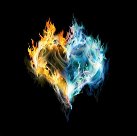 hd flame heart shaped picture
