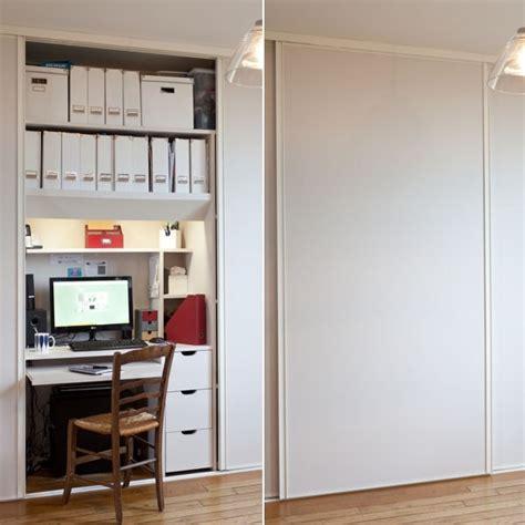 petit espace bureau transformer un placard en bureau aménager un coin bureau