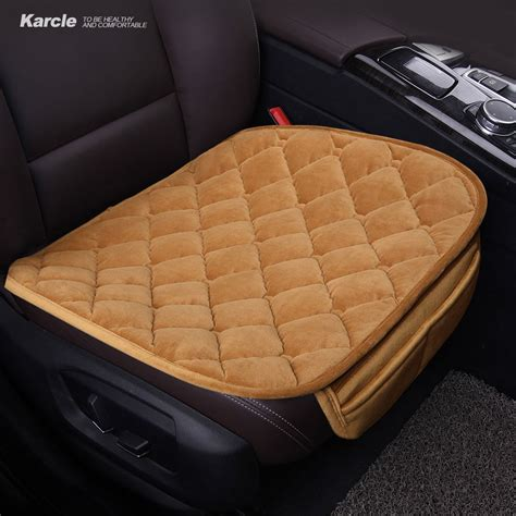 karcle pcs plush car seat covers protector driver chair