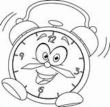 Clock Coloring Cartoon Alarm Pages Face Steampunk Outlined Template Illustration Vector Drawing Getcoloringpages Wall Sheets Objects Intervals Minute Printable Past sketch template