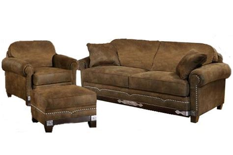 rustic western couches winchester sofa chair ottoman