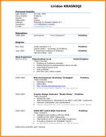 How To Write Effective Resume Pdf by 8 Exle Of A Written Cv Mystock Clerk