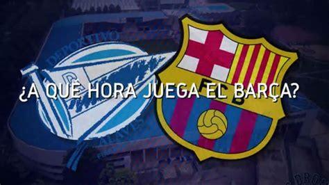 Horario mundial del Alavés - FC Barcelona
