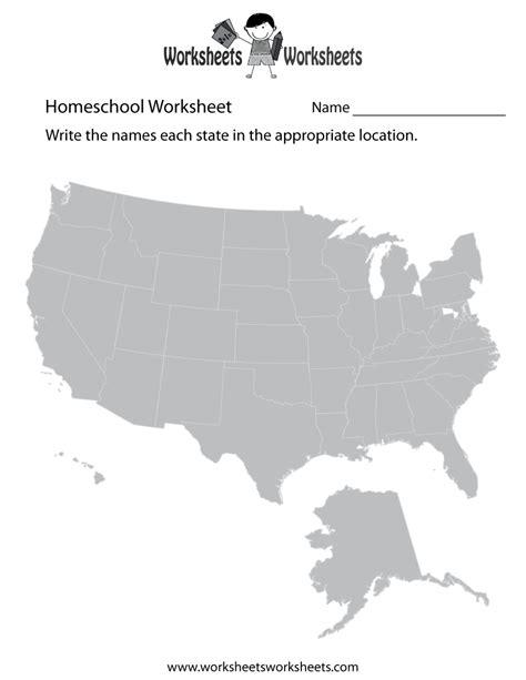 Homeschool Geography Worksheet  Free Printable Educational Worksheet