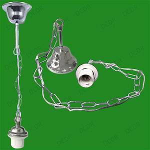 Metal ceiling rose chain pendant chandelier lamp holder