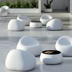 Fauteuil Jardin Pas Cher : mobilier exterieur blanc ~ Teatrodelosmanantiales.com Idées de Décoration